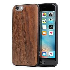 Luxurious Apple iPhone 6 6s Genuine Natural Walnut Case & Glass Screen Protector