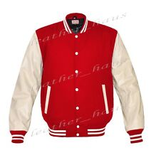 Faux Leather Sleeve Letterman College Varsity Women Wool Jackets #CRS-WSTR-WB-FL