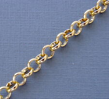 3ft Gold color Findings Rolo Link opened Cable Chains 6mm Jewelry making  DIY