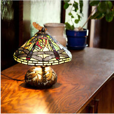 Dragonfly Lamp Mosaic Table Lamps for Living Room Bedroom Mini Tiffany Style One