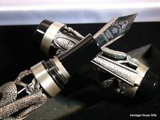 Snake Antique Silver Fountain Pen Cast, Collector Item @@LOOK@@   FREE USA SHIP!
