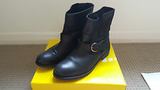 Sportsgirl Classic Ankle Biker Boots Black Size 10 Leather Upper