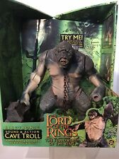 Lord of the Rings Sound & Action CAVE TROLL Figure Fellowship Ring 2003