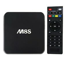 ANDROID BOX M8S 4K TV BOX SMART TV IPTV QUAD CORE RAM 1GB MINI PC WIFI M8 S812-