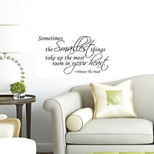 New Winnie The Pooh Quote Sometimes The Smallest Things Wall Sticker Vinyl Decal
