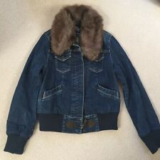 Gap denim jacket with removable fur collar. New. Size 10/12