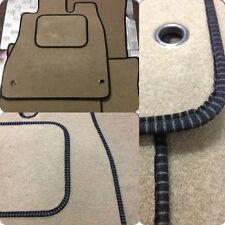 Perfect Fit Beige Carpet Car Floor Mats for Toyota Prius 00-03 - Black Ribb Trim