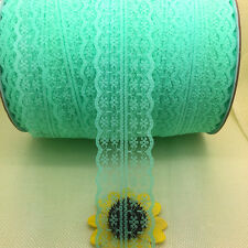 Beautiful~10 Yards Bilateral Handicrafts Embroidered Net Lace Trim Ribbon
