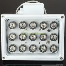 15 LED Night Vision IR Infrared Illuminator Lamp 100m 850nM 45° For CCTV Camera