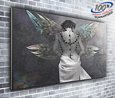 Heavenly Angel Panoramic Canvas Print XXL 4 foot wide x 1.5 foot high