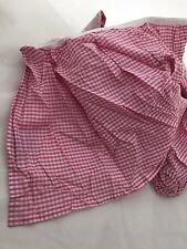 Pink Gingham Plaid FULL Bed Skirt dust ruffle Company Store NEW check girl