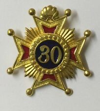 Rose Croix 30 Degree Sash Breast Jewel(brand New )