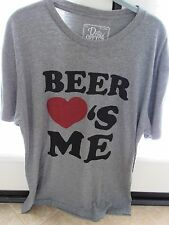 "MEN'S ""Beer Love's (Heart) Me"" Short Sleeve T-Shirt NOS X-Large"