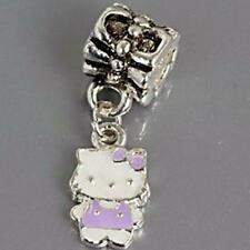 Purple Hello Kitty Dangle Charm For Silver Bracelets ALL CHARMS 5 FOR 4 m1317