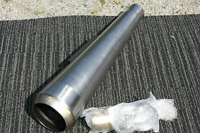 Mufflers Muffler  British Cafe Racer Commando OPEN reverse cone raw finish