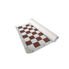 BROWN VINYL TOURNAMENT CHESS BOARD HIGH QUALITY *NEW*