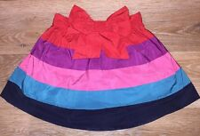 Next Girls Taffeta Striped Colourful Skirt With Bow - Age 18-24 Months