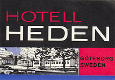 "Z4054-GOTEBORG SWEDEN, HOTEL HEDEN,  "" LUGGAGE - LABEL - ETICHETTA """