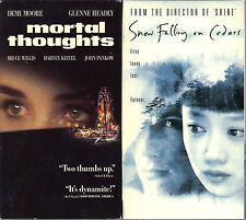 Mortal Thoughts (1991, VHS) & Snow Falling on Cedars (VHS, 2000) - 2 VHS Tapes