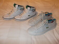 LACOSTE TRAINERS MARCEL CHUNKY WJA & HI TOPS CAMOUS CRE - SIZE 7 & 8