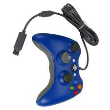 Blue USB Wired Game Pad Controller for Microsoft Xbox 360 PC Windows New