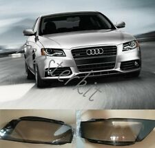 Audi A4 2009-2012 B8 Left and Right Front Kit Cover Lens for Headlights + Glue
