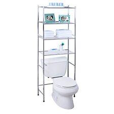 Honey-Can-Do 4-Tier Metal Bathroom Shelf Space Saver, Chrome NEW