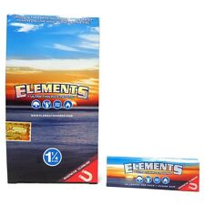 Full  Box ELEMENTS 1 1/4 Size ULTRA THIN RICE rolling paper