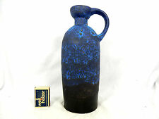 Cool 70´s design Ruscha blue  Fat Lava pottery jug vase  / Krug Vase 321 / 4
