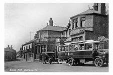 pt1104 - Bus by Blue Bell Hotel , Cross Hill , Hemsworth , Yorkshire - photo 6x4