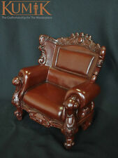 """1:6 KUMIK Toys Brwon Armchair Sling Chair Couch Model For 12"""" figure Toy"""