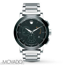 NEW MOVADO MUSEUM SPORT CHRONOGRAPH STAINLESS STEEL BRACELET MEN'S WATCH 0606792