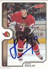 Martin Havlat Autograph Victory Senators Card Sharks