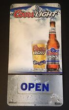 Coors Light Beer Metal Sign - Open/Closed - Man Cave - NOS