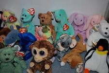 26 Ty Beanie Babies Stuffed Animal Plush Collection Trading Cards lot