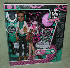 Monster High Clawd Wolf & Draculaura forbitten Love muñeca Doll nuevo embalaje original New MIB