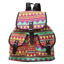 Damen Canvas Rucksack Tasche Schultertasche Schulrucksack Backpack Boho Vintage
