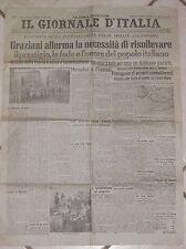 IL GIORNALE D ITALIA 3 ottobre 1943 Vesuvio Napoli Mussolini e Graziani RSI di e