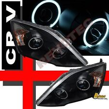 2007-2011 Honda CRV CR-V Dual CCFL Halo Angel Eyes Black Projector Headlights