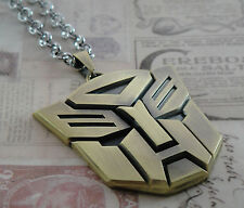 TRANSFORMERS AUTOBOT OPTIMUS PRIME BLK PENDANT NECKLACE FREE SHIPPING