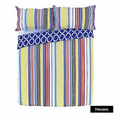 3 Pce Apartmento Havana Stripe Reversible Quilt Doona Duvet Cover Set - QUEEN