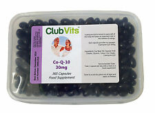 Club Vits Co-Enzyme Q10 30mg - 365 Capsules Free UK P&P