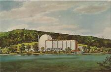 Postcard Haddam Neck Connecticut Yankee Nuclear Plant Artists Rendering 60s MINT