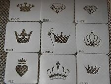 Airbrush Temporary Tattoo Stencil Set 144 Crowns New by Island Tribal!