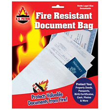 "Fire Resistant Document Bag Fireproof Protection Bag New Legal Size 10"" x 15"""