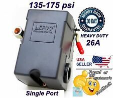 Pressure Switch for Air Compressor 135-175 SINGLE 1 PORT Heavy Duty 26A LEFOO