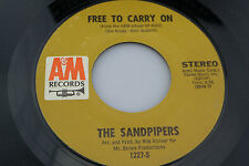 Sandpipers: Free to Carry On / Whole World in His Hands [Unplayed Copy]