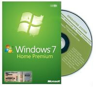 Genuine Windows 7 Home premium SP1 32bit Full Version DVD and Product Key COA