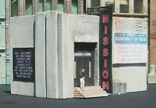 Downtown Deco HO Scale Rescue Mission w/funny sign Hydrocal kit.
