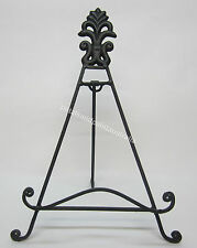 31cm Rustic French Provincial Brown Iron Easel Stand Finial, Book, Photo, Plate